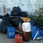 Some of the rubbish collected by volunteers