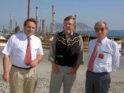 Neil Parish, Denny Larson & senior Cepsa official