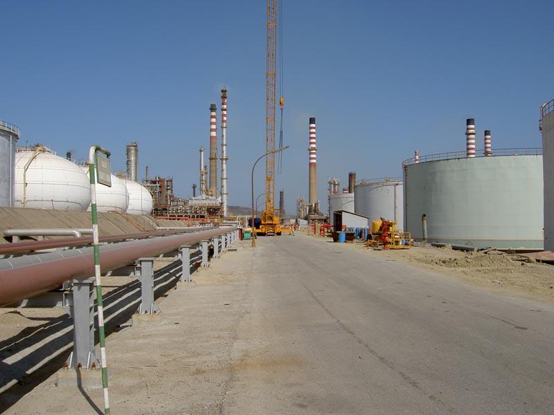inside the CEPSA refinery complex