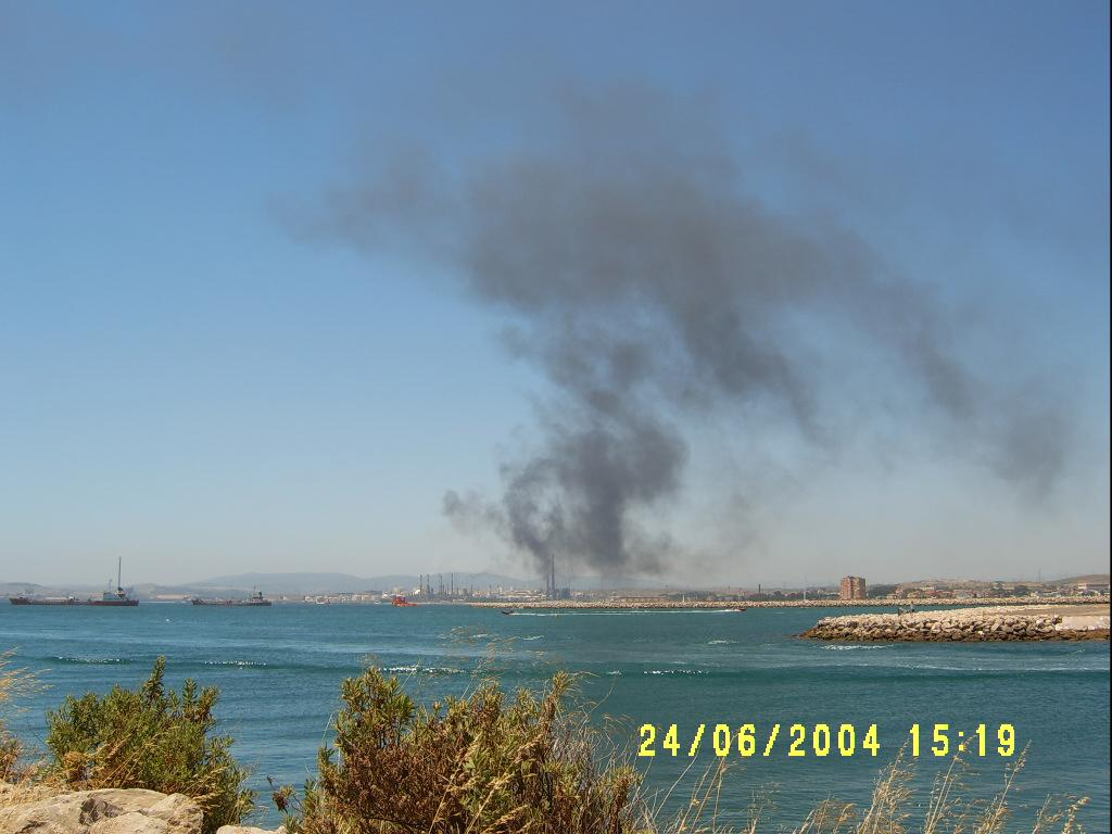 air pollution from the heavy industries in the Bay